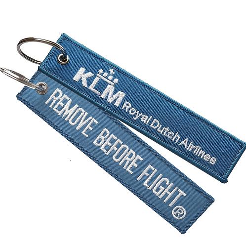 Llavero KLM Royal Dutch Airlines Remove Before Flight