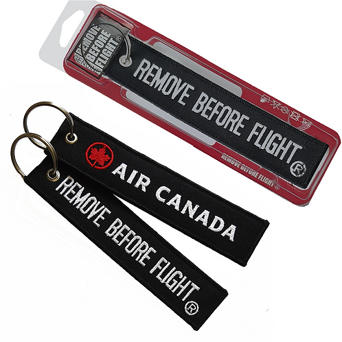 Air Canada Remove Before Flight® Llavero bordado