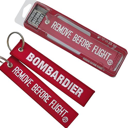 Bombardier Remove Before Flight® Llavero bordado