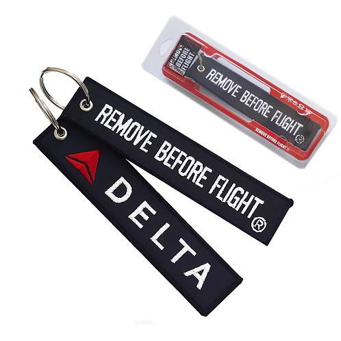 Delta Airlines  Remove Before Flight® Llavero bordado