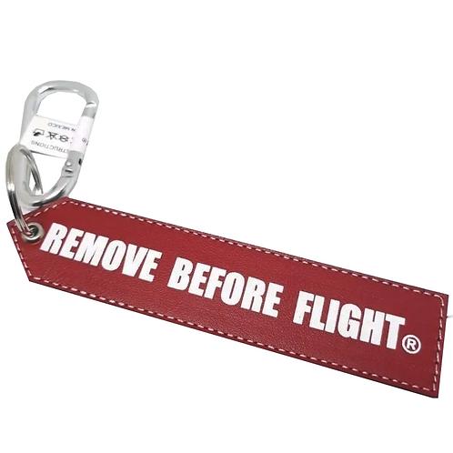 Llavero de piel Remove Before Flight