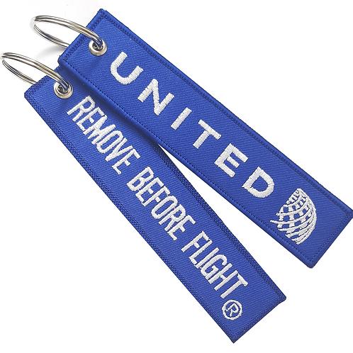 Llavero United Airlines Remove Before Flight