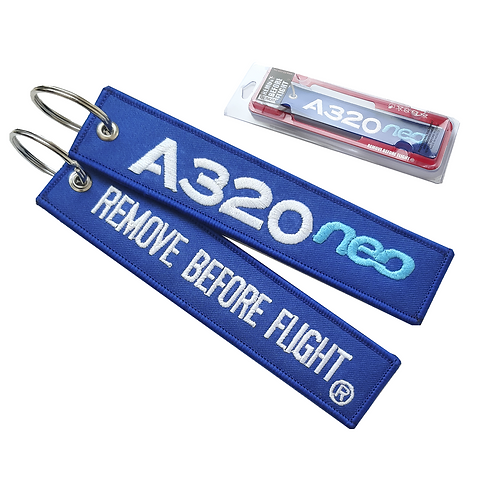 A320neo Airbus Remove Before Flight® Llavero bordado