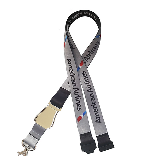 Lanyard American Airlines LIFT BUCKLE Remove Before Flight