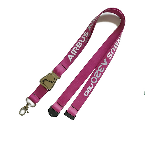 Lanyard Airbus A320neo Pink LIFT BUCKLE Remove Before Flight