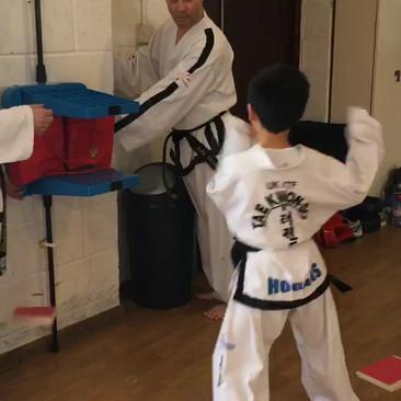 Mstr Lewis practicing breaking