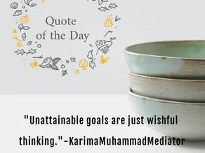 Unattainable Goals