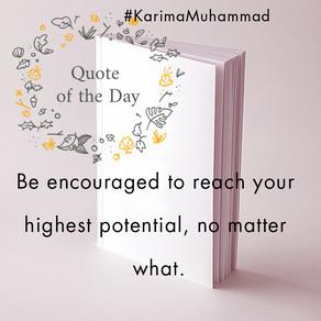 Be Encouraged.