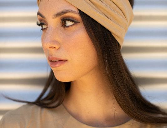 Thin Turban - Jersey Beige