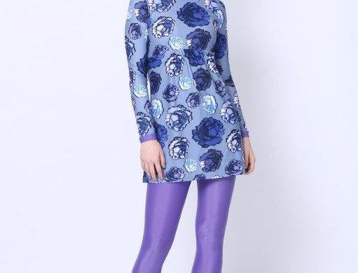 Burkini - Blue Roses