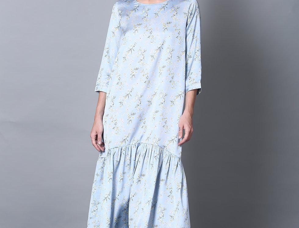 Light Blue Tie Dress