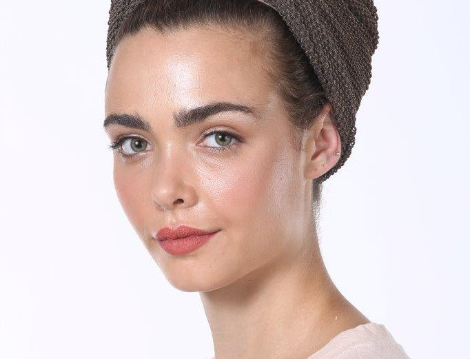 Knot Turban - Fine Knitted Brown