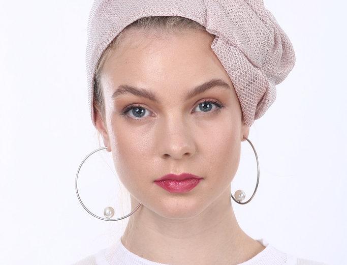 Partial/Full Mesh Bow Headband - Pink