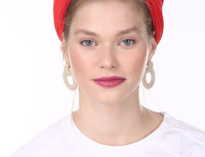 Partial/Full Volumized Turban - Basic Red
