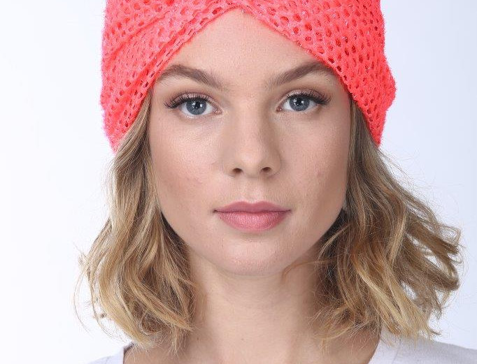 Thin Turban - Punched Coral