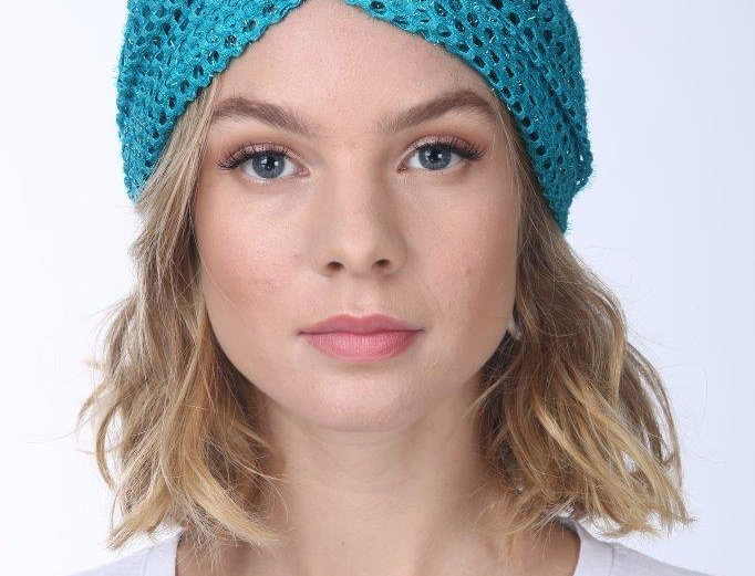 Thin Turban - Punched Turquoise