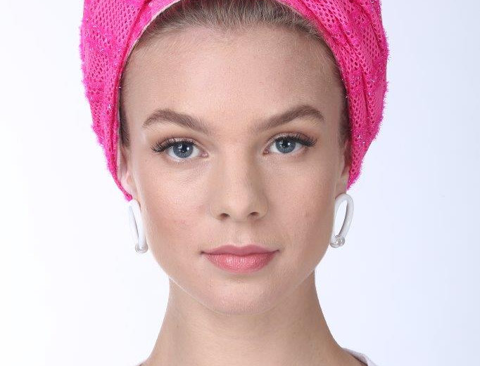 Knot Turban - Punched Pink Neon