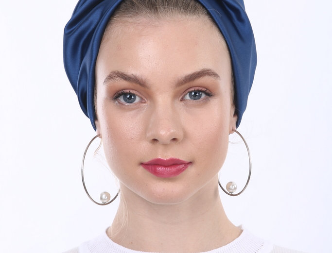 Partial/Full Turban - Royal Blue Satin
