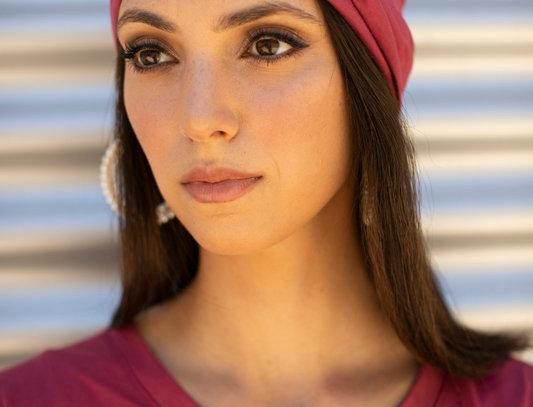 Thin Turban - Jersey Dark Pink