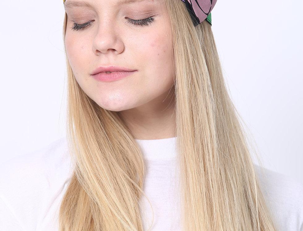 Thin Bow Headband - Autumn Purple