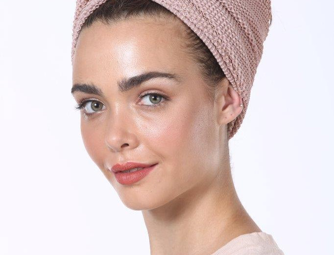 Knot Turban - Fine Knitted Pink