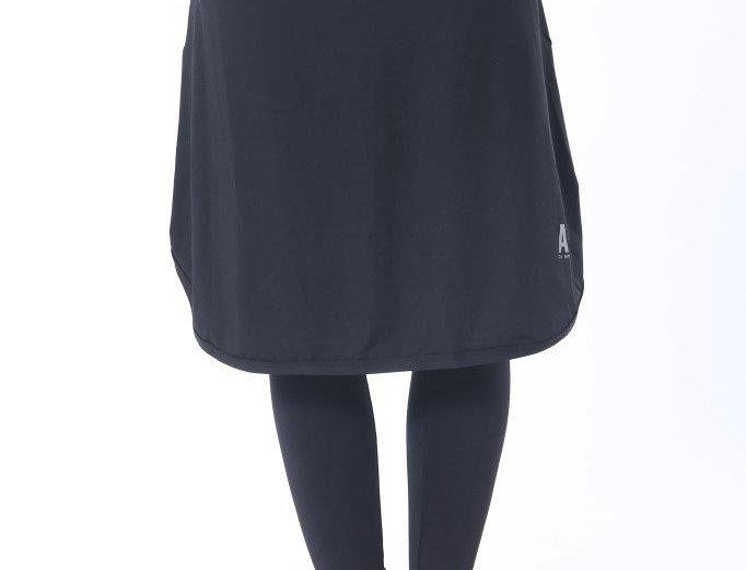 Long Sports Skirt - Black