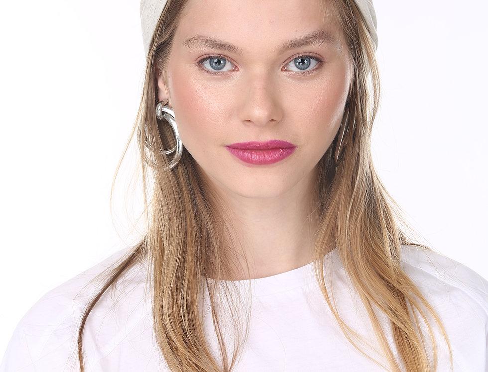 Thin Turban -  Basic White Grey