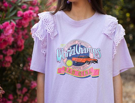 T-shirt with print - Lila