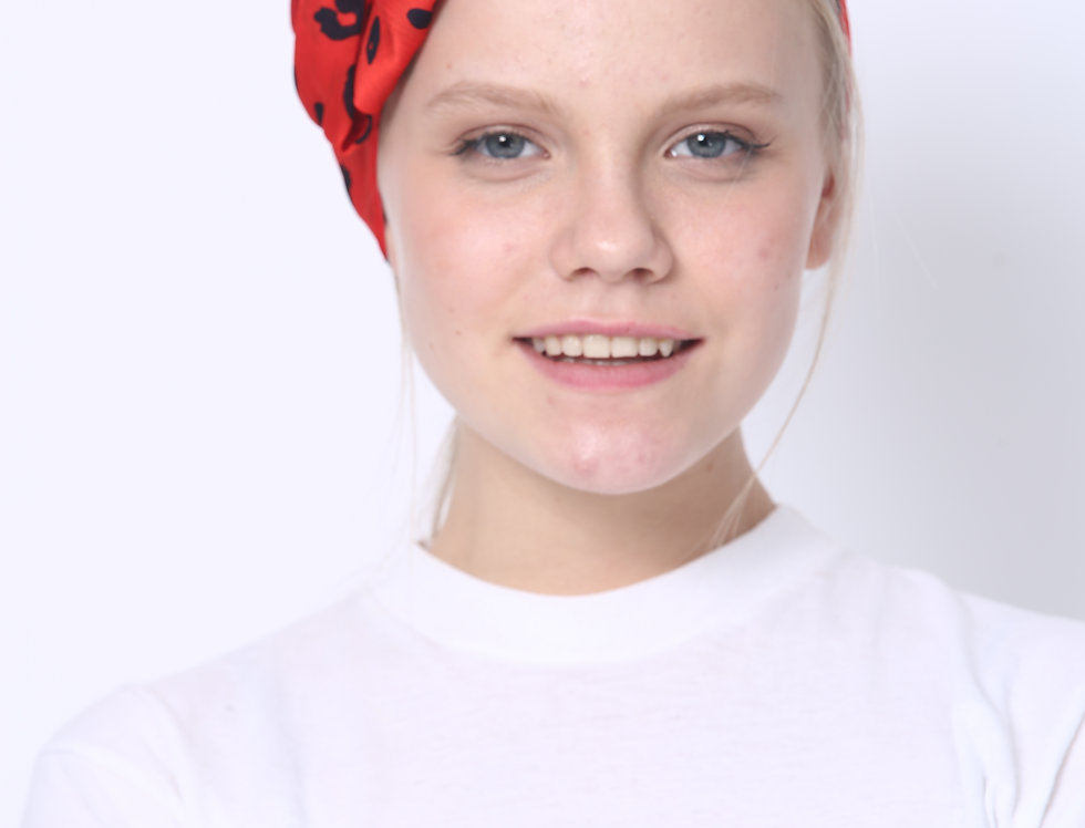 Partial/Full Printed Bow Headband - Leopard Red