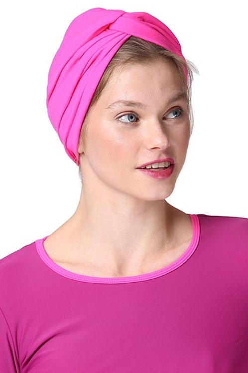 Pink Neon Swim Turban