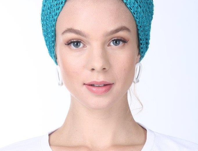 Partial/Full Turban - Punched Turquoise