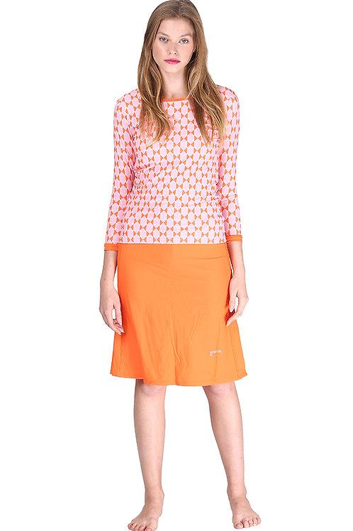 Modest Swimwear- Geometric Orange