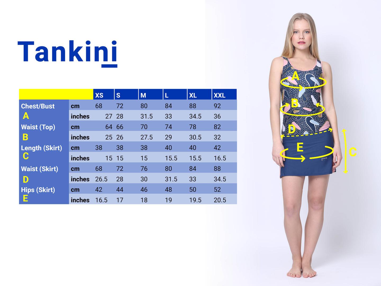 size chart tankini