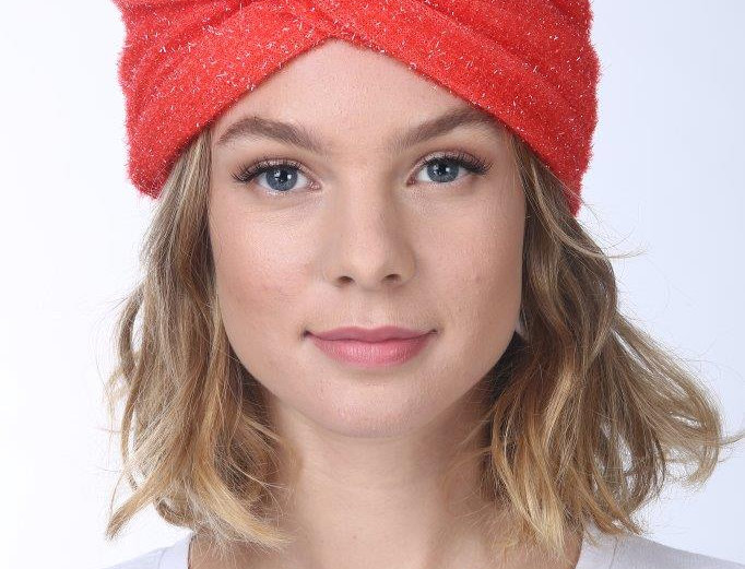 Thin Turban - Rugged Red Orange