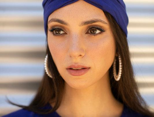 Thin Turban - Jersey Royal Blue