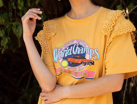 T-shirt with print - Mustard