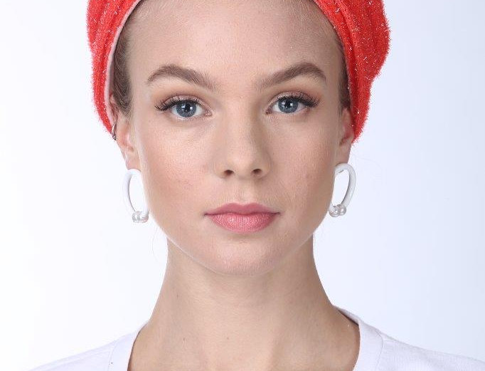 Partial/Full Turban - Punched Red