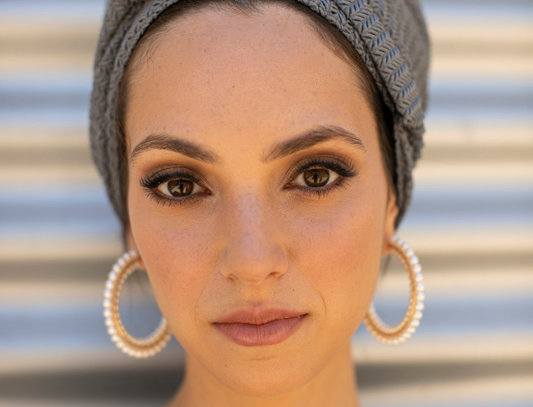Knot Turban - Knitted Grey