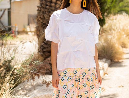 Yellow hearts skirt
