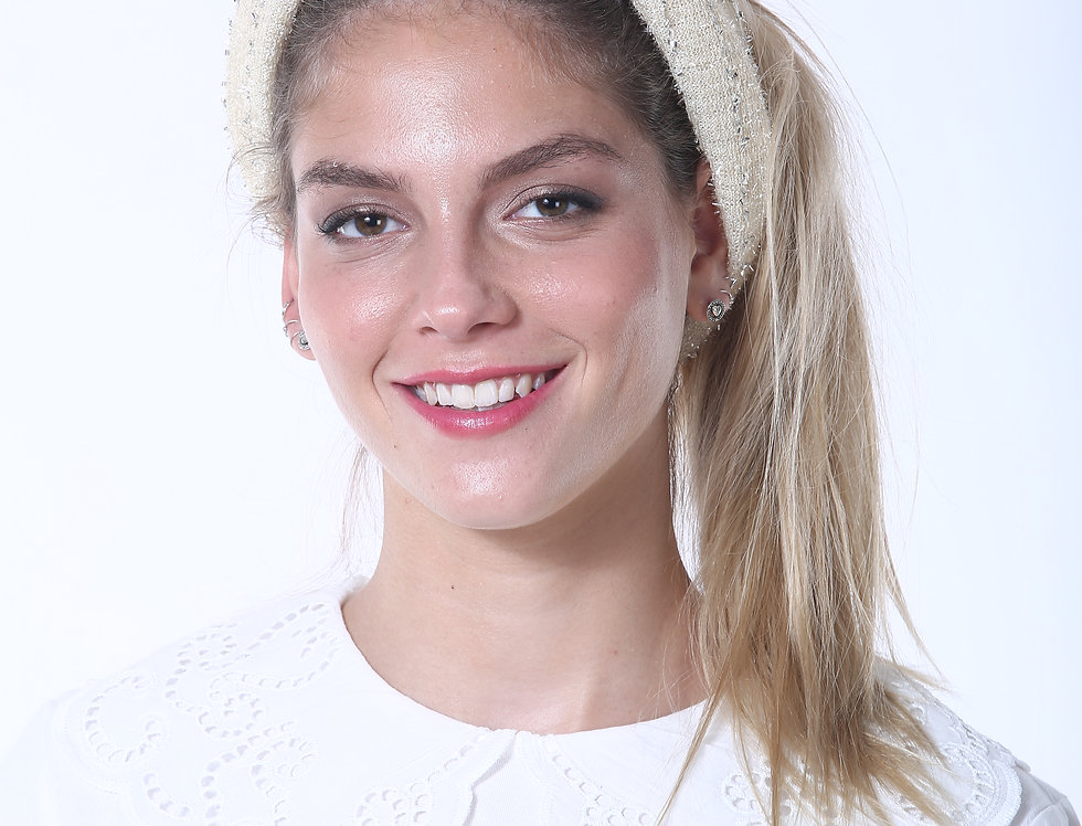 Thin Turban - Rugged Off White Silvertouch