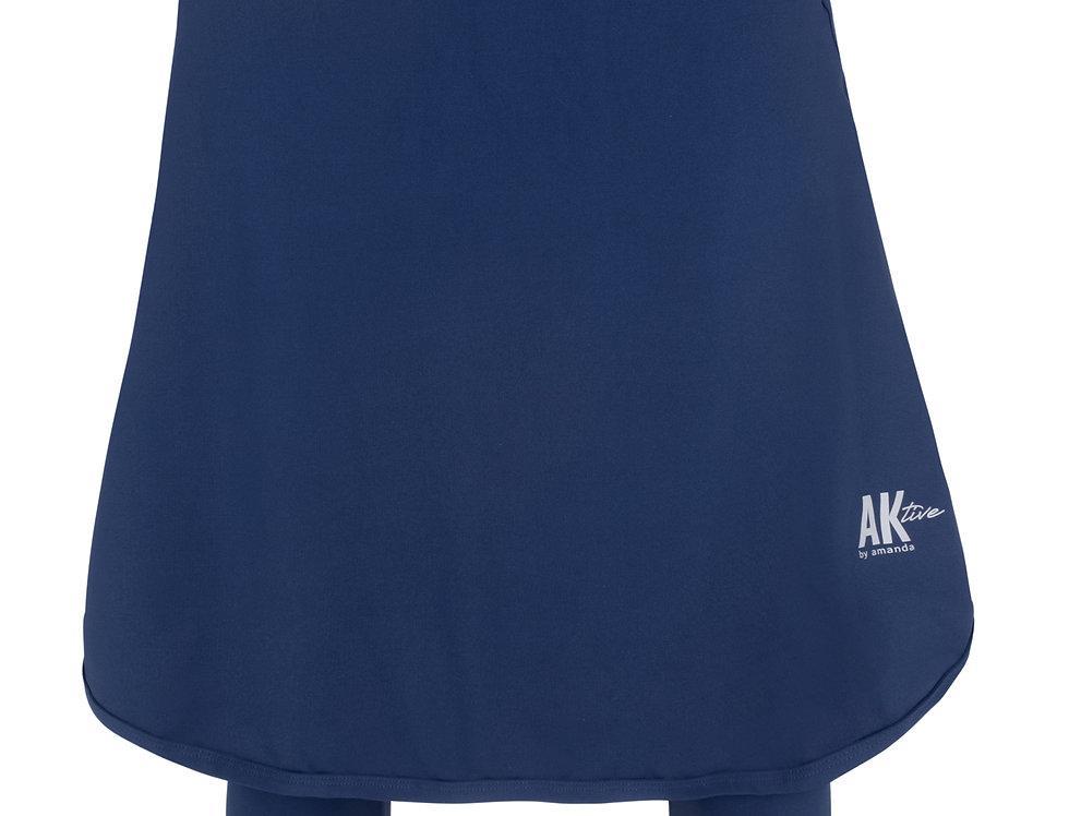 Long Sports Skirt - Dark Blue