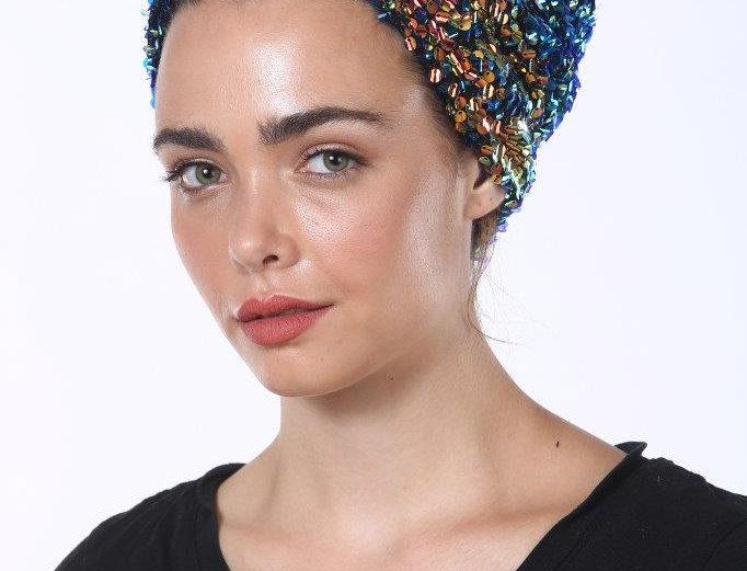 Partial/Full Turban - Sequins Black