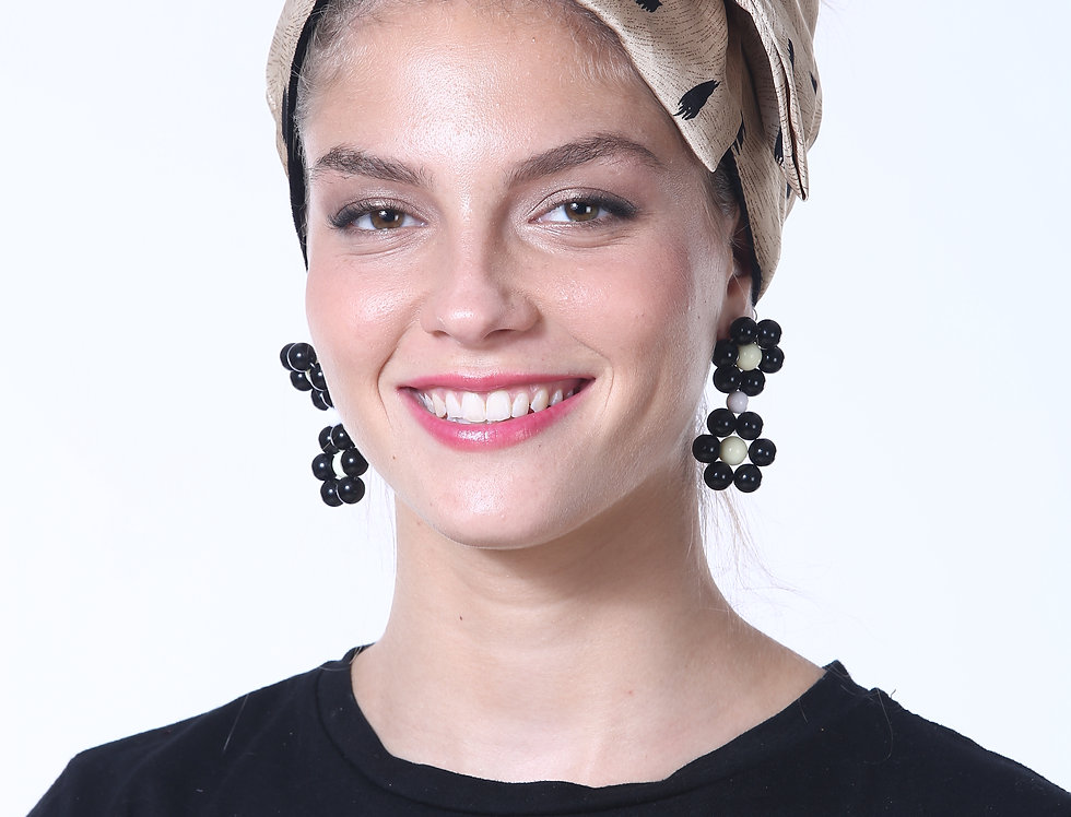 Partial/Full Bow Headband - Silky Beige Print