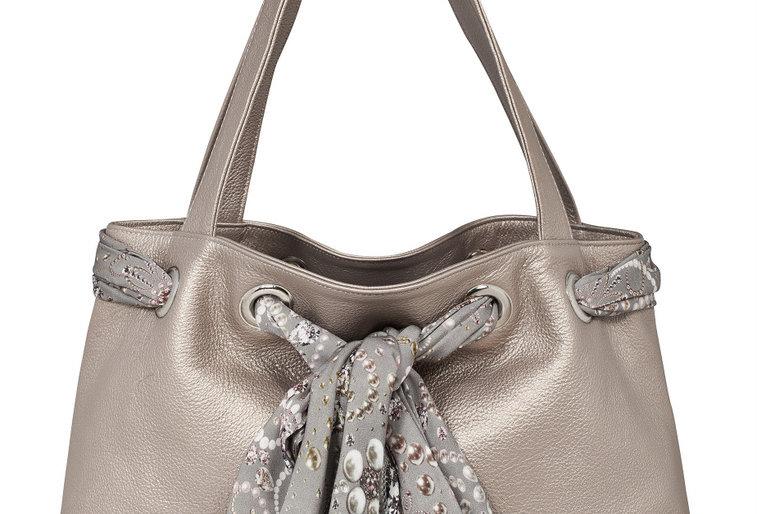Bronze leather bag