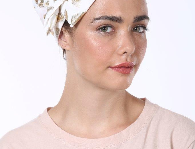 Partial/Full Bow Headband - Silky White Feathers