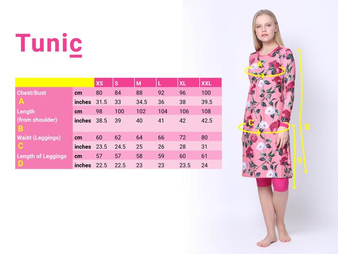 size chart tunic