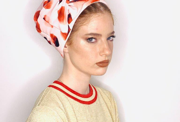 Partial/Full Bow Headband - Red Pink