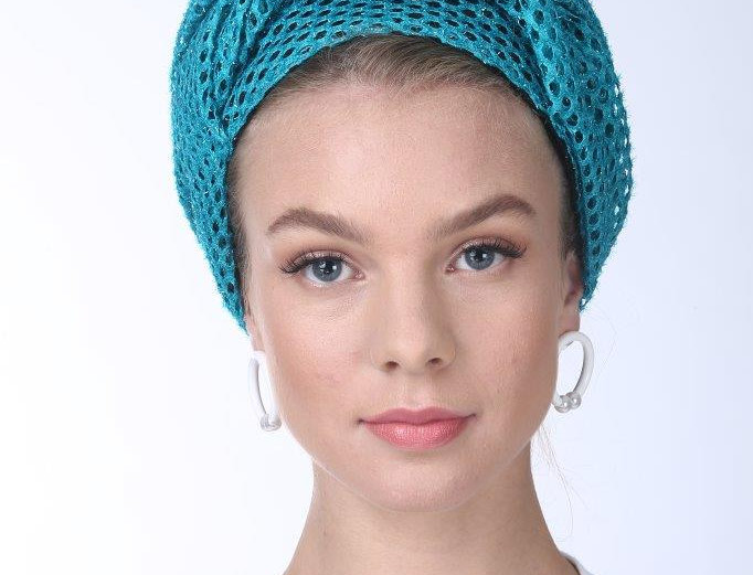 Knot Turban - Punched Turquoise