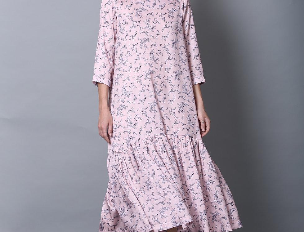 Baby Pink Tie Dress