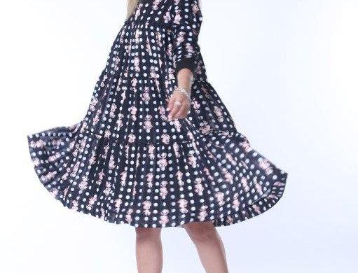 Ruffle Swing Midi Dress - Venice